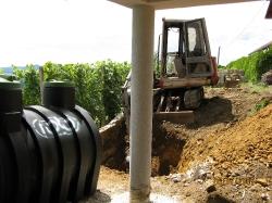 postavitev cisterne za deževnico